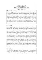 English Worksheet: Ancient Egypt Perfume and Make up