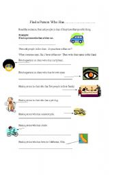 English Worksheets: Who has...