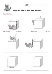 English Worksheets: Help the cat to find the mouse!