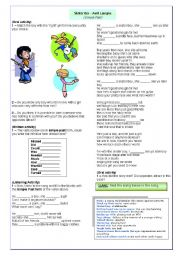 English Worksheet: Song - Sk8ter Boy