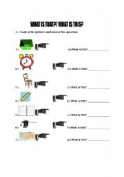 What is this/that? - ESL worksheet by yayla