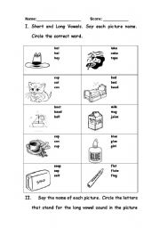 Worksheet Short And Long Vowel Worksheets english teaching worksheets long vowels short and vowel
