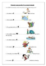 Worksheets Present Progressive Worksheets english teaching worksheets present progressive vs simple