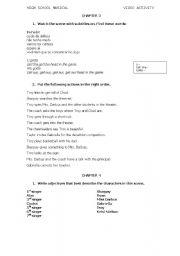 English Worksheet: High School Musical