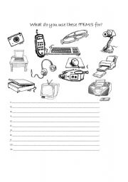 English Worksheets: What are this items for?