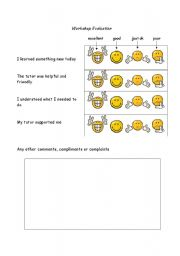 English Worksheets: Evaluation of a session