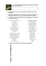 English Worksheet: Acrostic poem