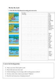 English Worksheets: The Tiny Mr. Jacob