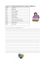 English Worksheet: Present Simple - Daily routines