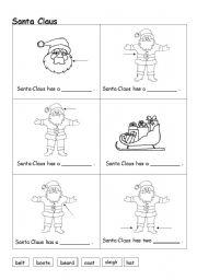 english worksheets santa claus - Santa Claus Activities