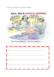 English Worksheets: Constructing sentences out of the picture