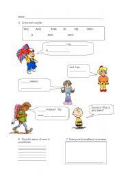 English Worksheets: greetings 2