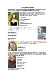 English Worksheets: EMBARRASING MOMENTS