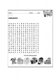 English Worksheets: crosswords actions