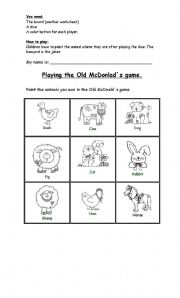 English Worksheets: The Old McDonald�s ame