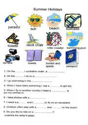 Summer holidays esl worksheet by cathrine ibookread Read Online