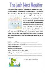 English Worksheet: Loch Ness
