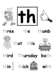 English worksheet: TH blend poster