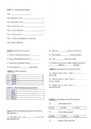 English Worksheets: general exercises 4