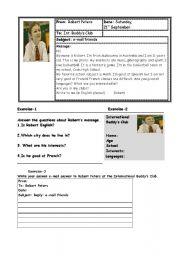 English Worksheets: beginner level activities
