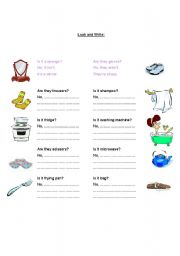 English Worksheets: Is it? vs Are they?