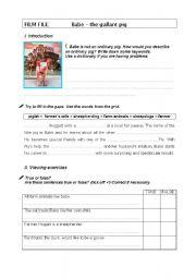 English Worksheets: Babe