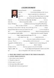 English Worksheets: LUCIANO PAVAROTTI