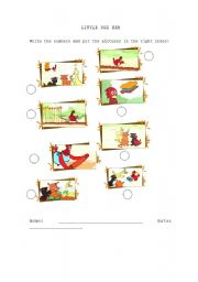 Little Red Hen - Worksheet