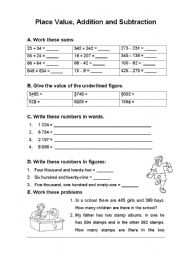 math worksheet : place value addition and : Place Value Addition Worksheets