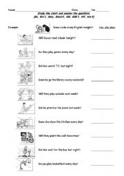 English Worksheets: answer the questions