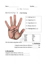 English Worksheets: Palm reading class