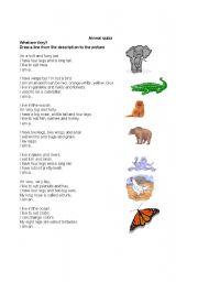 English Worksheets: Animal quizz 1