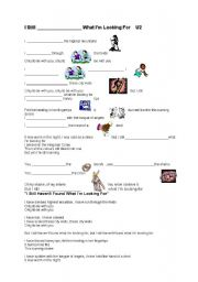 English Worksheets: I still haven´t found what I´m looking for - U2