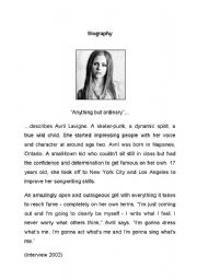 English Worksheet: Avril Lavigne - Complicated