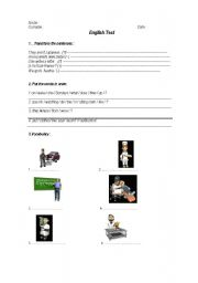 English Worksheet: test for adults