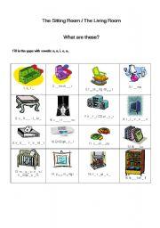 Living Room Vocabulary worksheet: living room - vocabulary