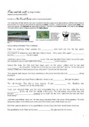 English Worksheet: peter and the wolf