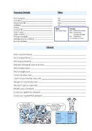English Worksheet: Meeting People