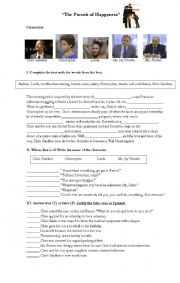English Worksheets: The pursuit of Happyness