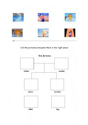 English worksheet: The Jetsons - family tree