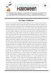 english worksheets halloween crossword - Free Halloween Reading Comprehension Worksheets