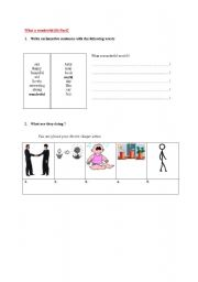 English Worksheets: What a wonderful world (L.Armstrong) Part2