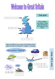 English Worksheet: Welcome to Great Britain