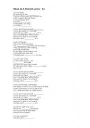 English Worksheets: lyrics - fill the gaps