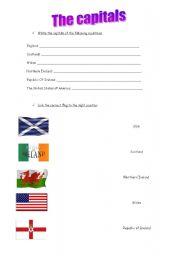 English Worksheets: capitals