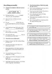 picture about Personality Test for Kids Printable referred to as Explaining individuality worksheets