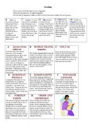 English Worksheets: Magazines