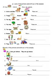 English Worksheets: POSSESSIVE ADJECTIVES
