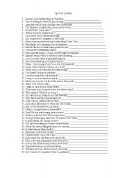 English Worksheets: spot the mistake