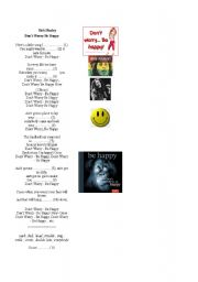 English Worksheets: song - don´t worry, be happy